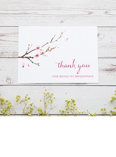 Bridesmaid Gifts - Classic Elegant Paper Wedding Day Card (256176227)
