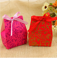 Classic Favor Boxes With Ribbons (Set of 12) (050028319)