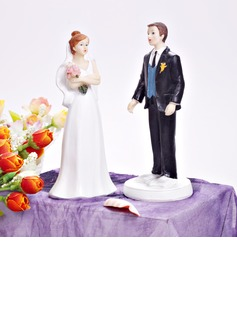 Bride And Groom Resin Wedding Cake Topper (122036179)