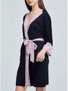 Bride Bridesmaid Polyester With Short Satin Robes (248163723)