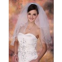 Two-tier Elbow Bridal Veils With Pencil Edge (006003750)
