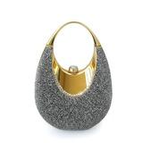 Glänzende Metall mit Glitzer Wristlet Taschen/Braut Geld-Beutel (012025491)