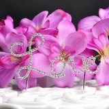 Kærlighed Udformning Krom Bryllup Kage Topper (119031356)