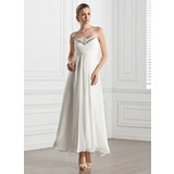 Empire Sweetheart Ankle-Length Chiffon Evening Dress With Ruffle Beading (017005274)