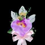 Simple And Elegant Free-Form Satin/Cotton Boutonniere (123031455)
