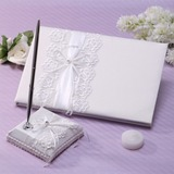 Pretty Bow Guestbook & Pen Set (101037372)