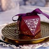 Rara Siempre Amor forma de diamante Papel para tarjetas Cajas de regalos con Cintas (Juego de 30) (050197393)