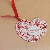 Personalizado Diseño del corazón papel Tarjetas de invitación con Cintas (Juego de 50) (118032323)