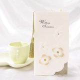 Stile Floreale Tri-Fold Invitation Cards con Nappe (Set di 10) (114032377)