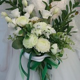 Hand-tied Artificial Flower Bridal Bouquets (Sold in a single piece) - Bridal Bouquets (123191626)