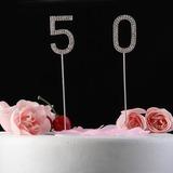 Brillantes Piedras Número Cromo Aniversario Decoración de tortas (119031364)
