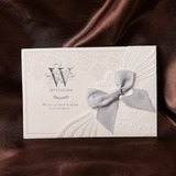 Floral Style Wrap & Pocket Invitation Cards With Bows (Set of 50) (114032384)
