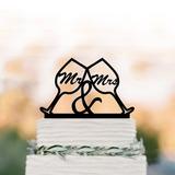 Mr & Mrs Acrílico/Madera Decoración de tortas (119187769)
