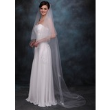 Two-tier Chapel Bridal Veils With Pencil Edge (006005410)