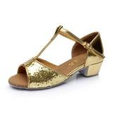 Kinderen Sprankelende Glitter Hakken Sandalen Latijn met T-Riempjes Dansschoenen (053053092)