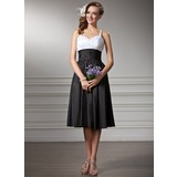 Empire Sweetheart Knee-Length Taffeta Bridesmaid Dress With Ruffle (007001830)