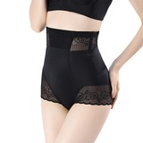 Women Sexy Chinlon Breathability High Waist Panty Shapers With Jacquard Shapewear (125185822)