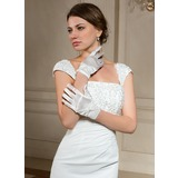 Elastic Satin Wrist Length Party/Fashion Gloves/Bridal Gloves (014024481)