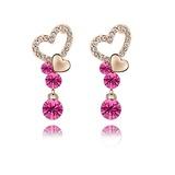 Sweet Heart Alloy/Crystal Ladies' Earrings (011037086)
