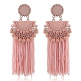 Unique Alloy Braided Rope Women's Fashion Earrings (137190471)