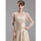 3/4-Length Sleeve Tulle Special Occasion Wrap (013004179)