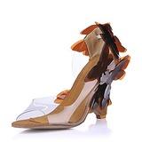 PVC Kilklack Sandaler Kilar med Blomma skor (087015260)