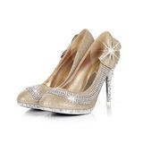 Kvinnor Konstläder Glittrande Glitter Stilettklack Pumps med Strass Glittrande Glitter skor (085026580)