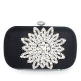 Elegant Silk With Glitter/Rhinestone Clutches (012033910)