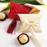 Elegant Kissen Geschenkboxen mit Quasten (Satz von 12) (050012947)