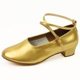 Frauen Kinder Lackleder Flache Schuhe Moderne mit Knöchelriemen Tanzschuhe (053024971)