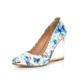 Lackleder Keil Absatz Absatzschuhe Geschlossene Zehe Schuhe (116057286)
