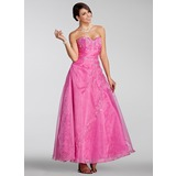A-Line/Princess Sweetheart Ankle-Length Organza Quinceanera Dress With Embroidered Beading Sequins (021005230)
