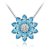 Schneeflocken Geformt Legierung mit Kristall Damen Halsketten (011053791)