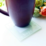 Faith Love Hope Glass Phicture Coasters Set Wedding Favor (set of 2pcs)t of 2) (051178612)