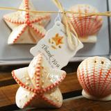 Muscheln & Star Keramik Salz-und Pfefferstreuer mit Etikett (Set mit 2 Stück) (051011488)