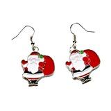 Julen Santa Legering/Färgad Glasyr Damer' örhängen (011057623)