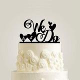 personnalisé que nous faisons Acrylique/Bois Décoration pour gâteaux (119187777)