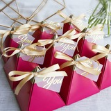 Forever Love Card Paper Favor Boxes With Ribbons (Set of 30) (050197390)