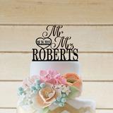 Corazón/Mr & Mrs Decoración de tortas (119197310)