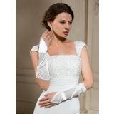 Elastische Satin Ellenbogen Länge Braut Handschuhe (014024479)