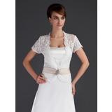 Kurze Ärmel Lace Hochzeit Bolero (013043085)