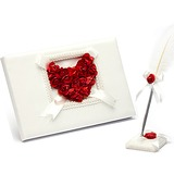 Rose Love Petals Guestbook & Pen Set (101018157)