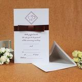 Stile classico Biglietto piatto Invitation Cards con Archi/Nastri (Set di 50) (114030718)