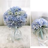 Avenante Rond Tissu Bouquets de demoiselle d'honneur - (123205625)