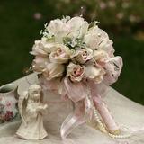Délicat Rond Satin Bouquets de Mariée (124032097)