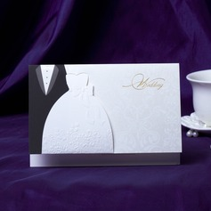 Bride & Groom Stil Top Fold Invitation Cards (Sett Av 50) (118031584)