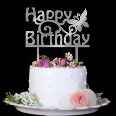 Stile classico/Buon compleanno Acrilico Decorazioni per torte (119154801)