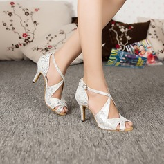 Donna Similpelle Sandalo Latino Scarpe da ballo (053095141)
