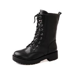 Similicuir Talon bas Bottines Martin bottes avec Dentelle chaussures (088052905)