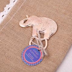 Beau éléphant En alliage de zinc Ouvre-bouteilles avec Étiquette (Lot de 20) (051203316)